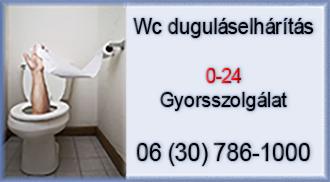 wc duguláselhárítás 0-24